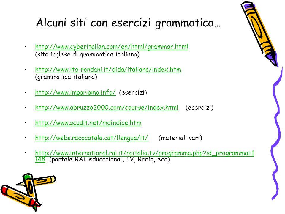 Alcuni siti con esercizi grammatica…