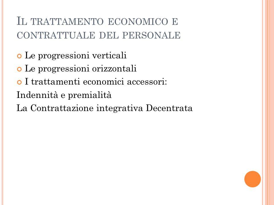 Il trattamento economico e contrattuale del personale