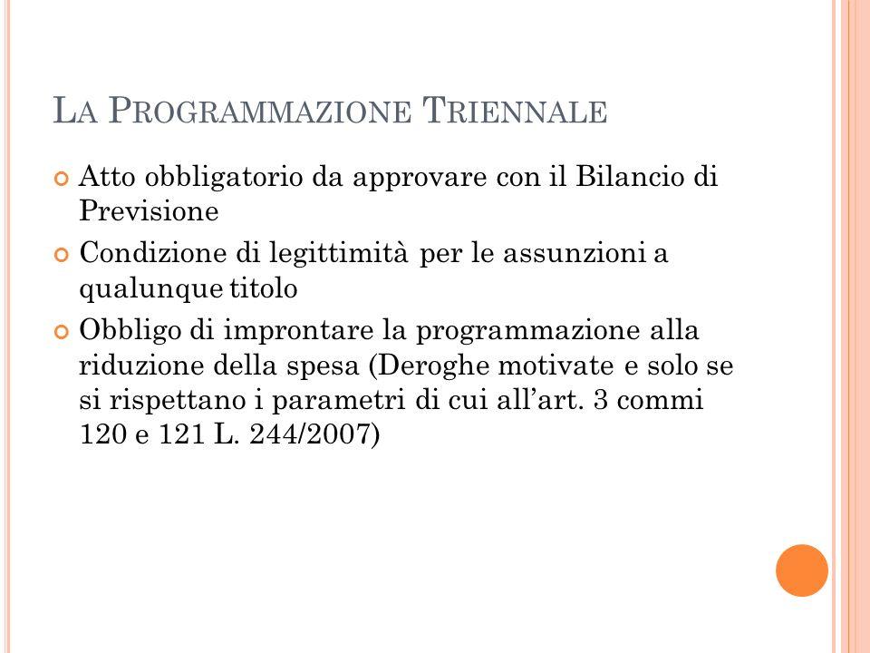 La Programmazione Triennale