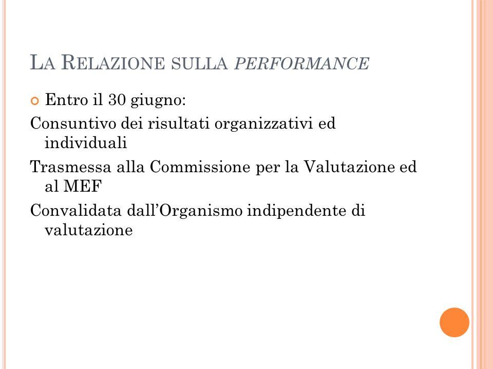La Relazione sulla performance