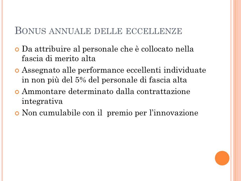 Bonus annuale delle eccellenze