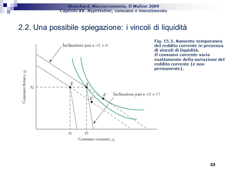 2.2. Una possibile spiegazione: i vincoli di liquidità