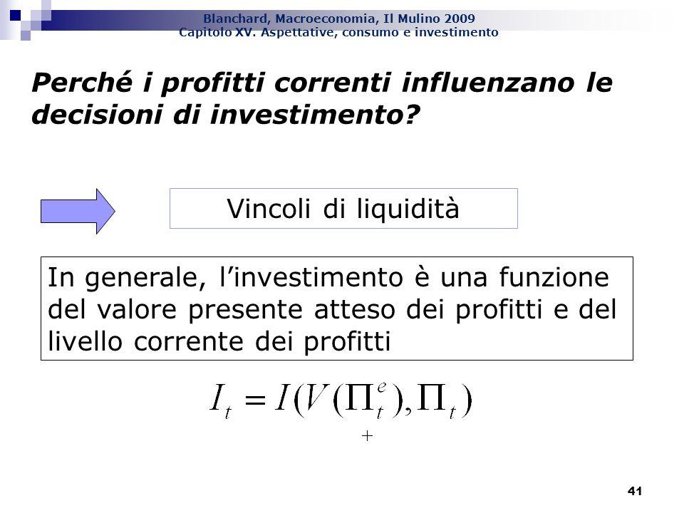 Perché i profitti correnti influenzano le decisioni di investimento