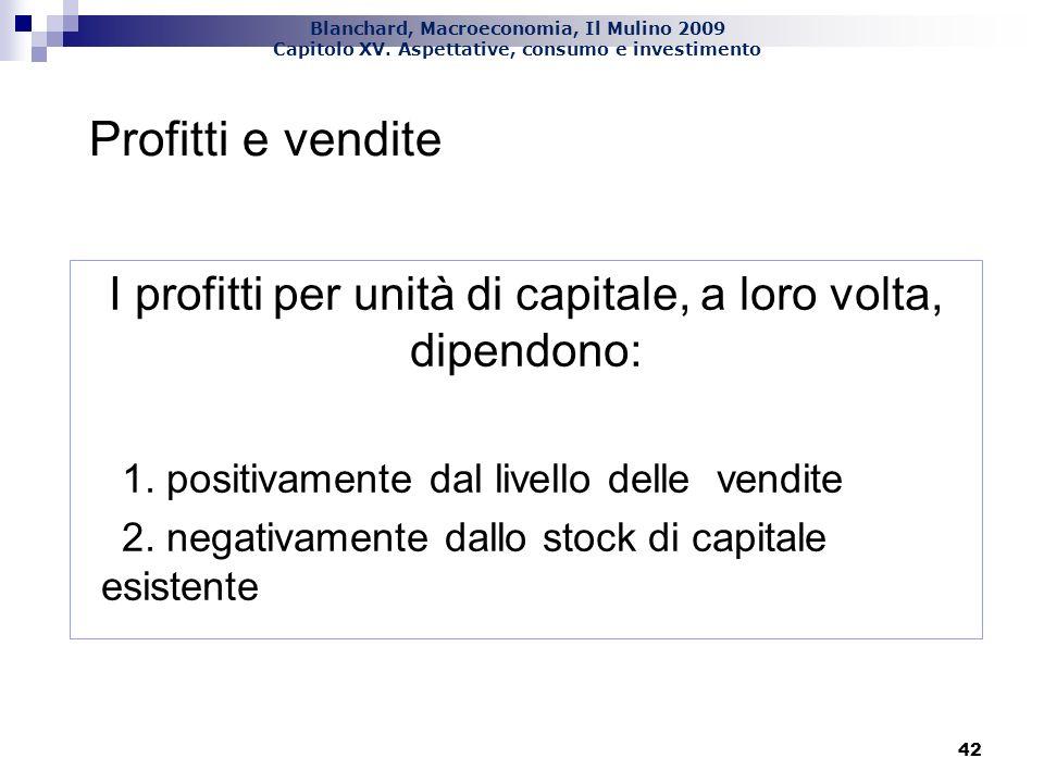 I profitti per unità di capitale, a loro volta, dipendono: