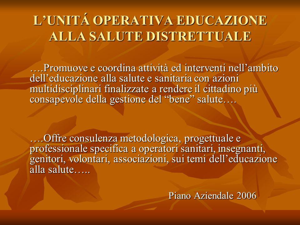 L'UNITÁ OPERATIVA EDUCAZIONE ALLA SALUTE DISTRETTUALE