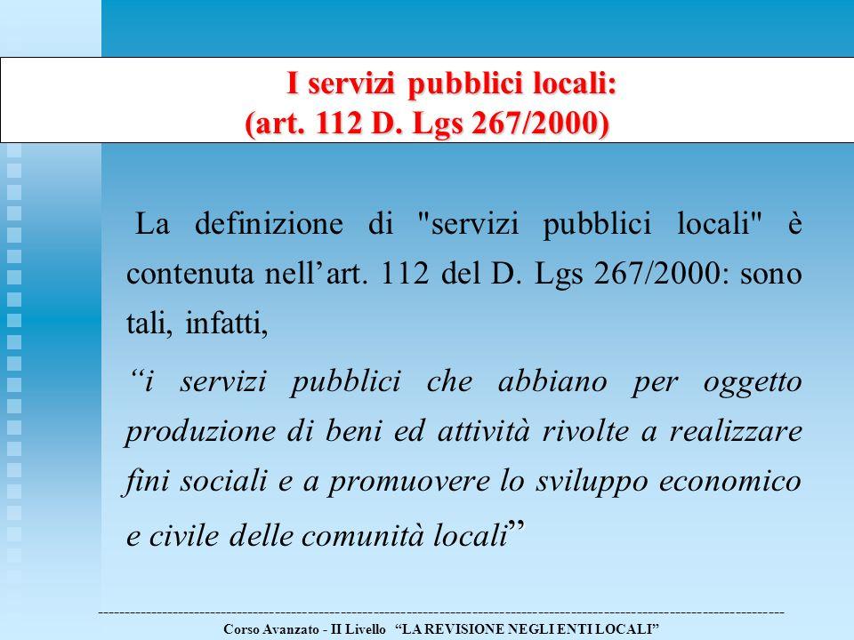 I servizi pubblici locali: