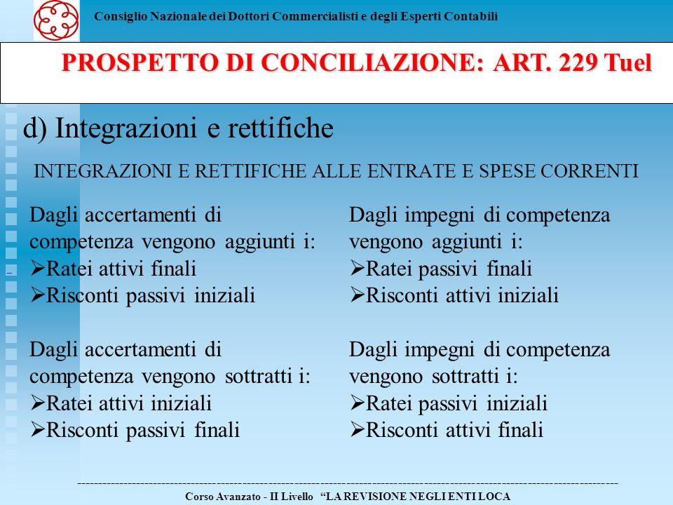 PROSPETTO DI CONCILIAZIONE: ART. 229 Tuel