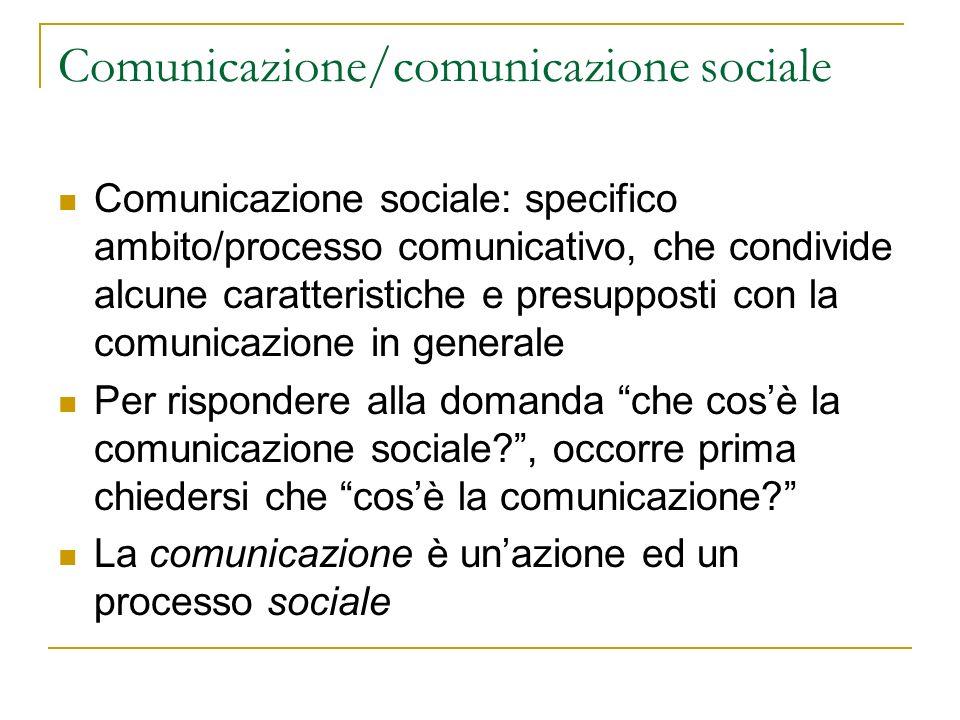 Comunicazione/comunicazione sociale