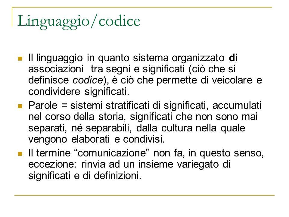 Linguaggio/codice