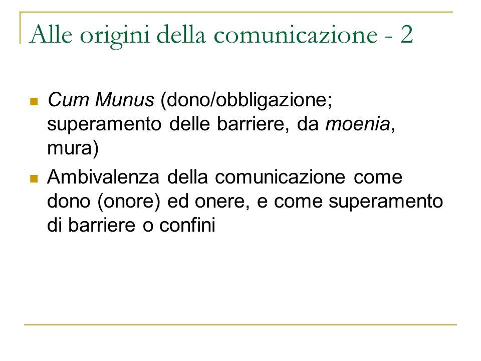 Alle origini della comunicazione - 2