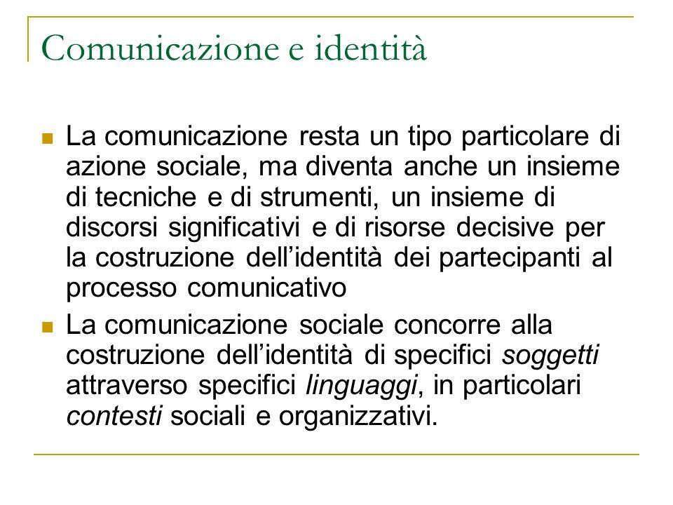 Comunicazione e identità