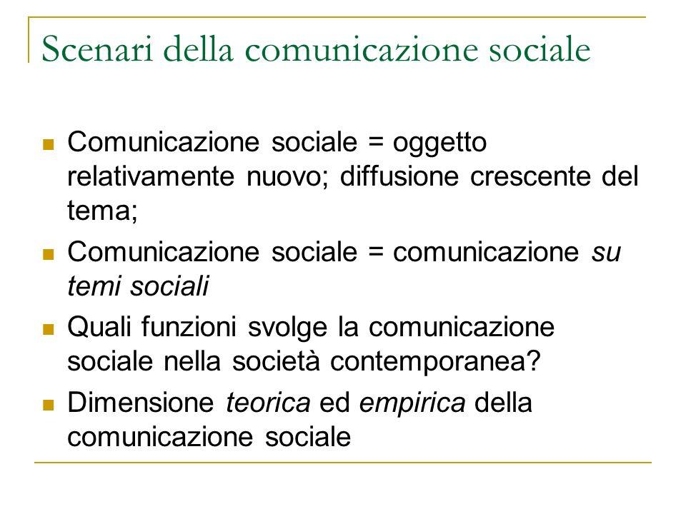 Scenari della comunicazione sociale