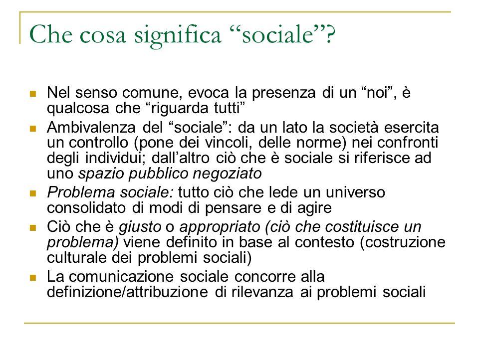 Che cosa significa sociale