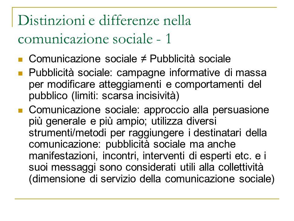 Distinzioni e differenze nella comunicazione sociale - 1