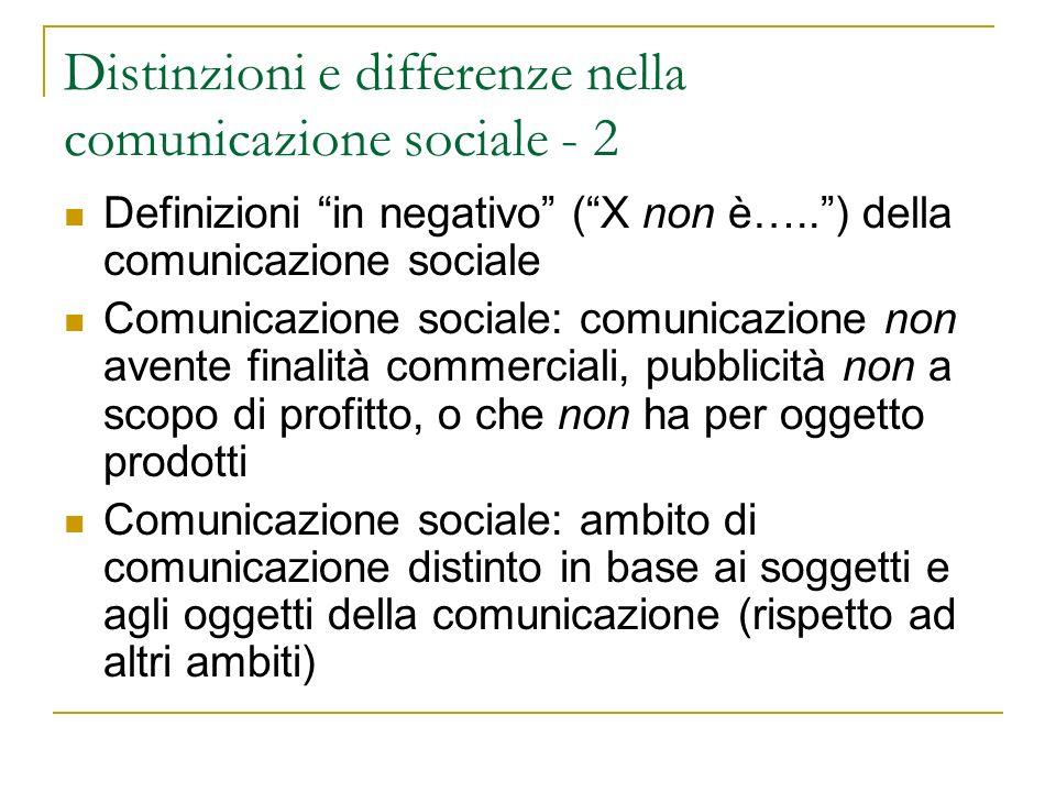 Distinzioni e differenze nella comunicazione sociale - 2