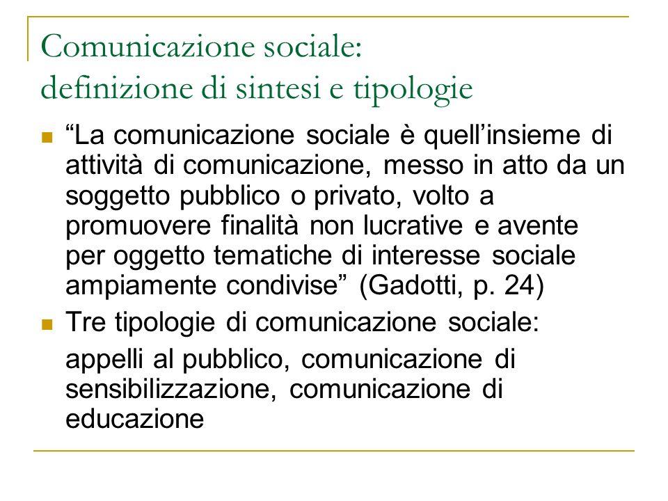 Comunicazione sociale: definizione di sintesi e tipologie