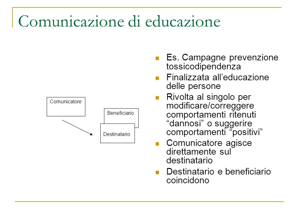 Comunicazione di educazione