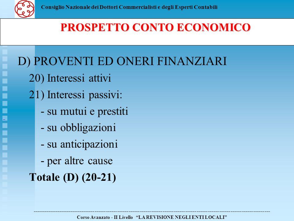 PROSPETTO CONTO ECONOMICO
