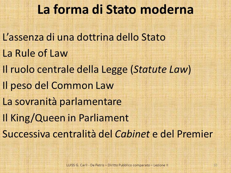 La forma di Stato moderna