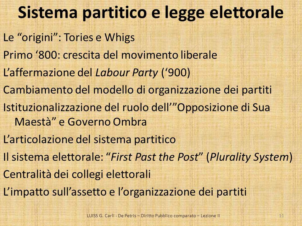 Sistema partitico e legge elettorale