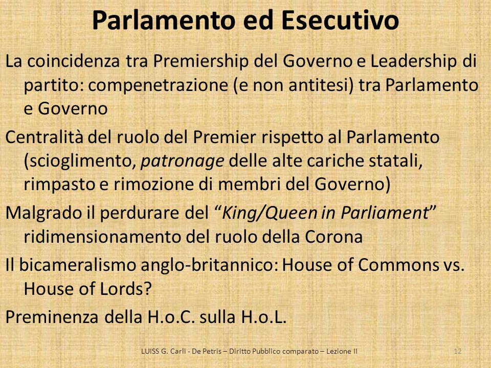 Parlamento ed Esecutivo