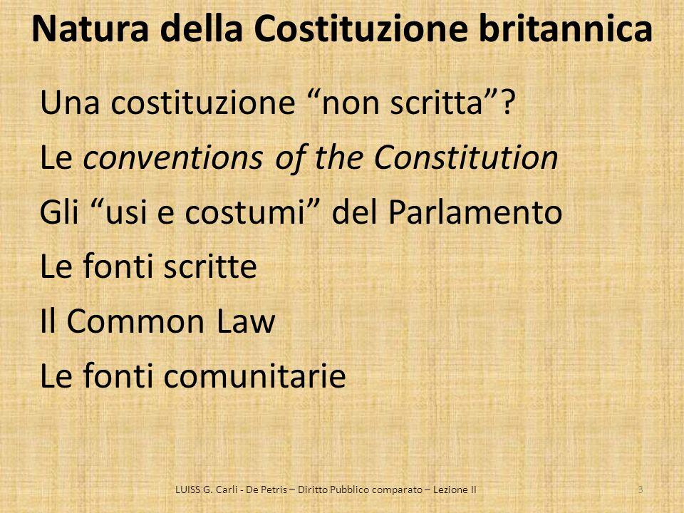 Natura della Costituzione britannica