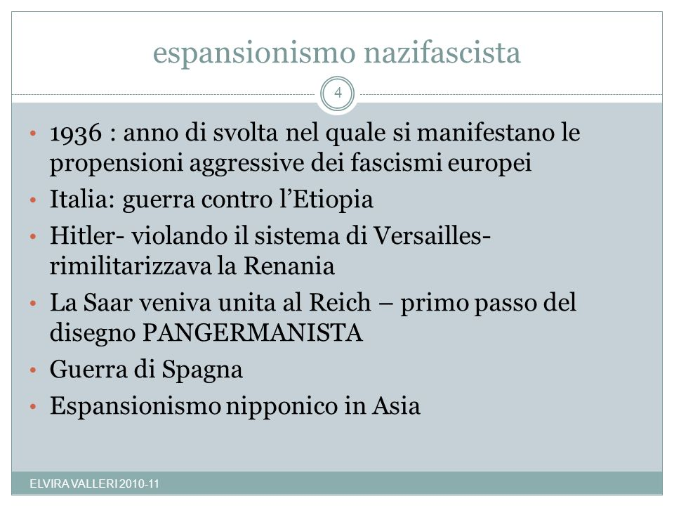 espansionismo nazifascista