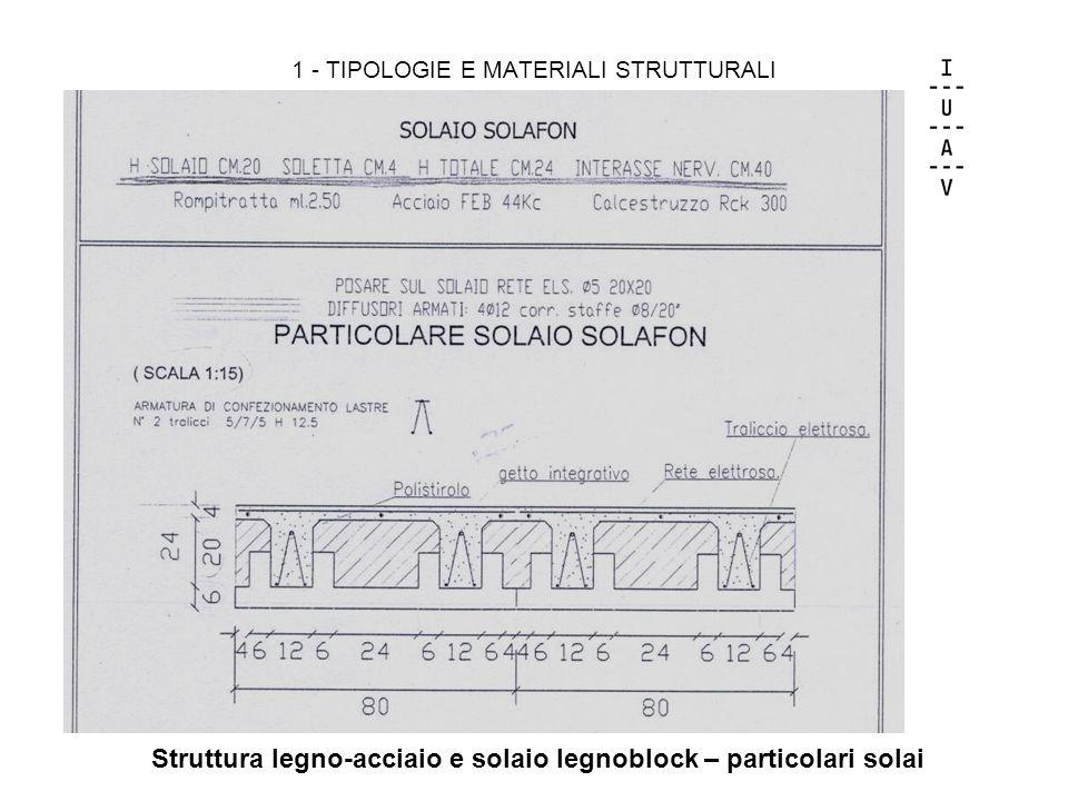 1 - TIPOLOGIE E MATERIALI STRUTTURALI