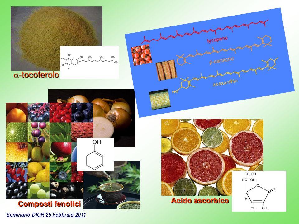a-tocoferolo Acido ascorbico Composti fenolici