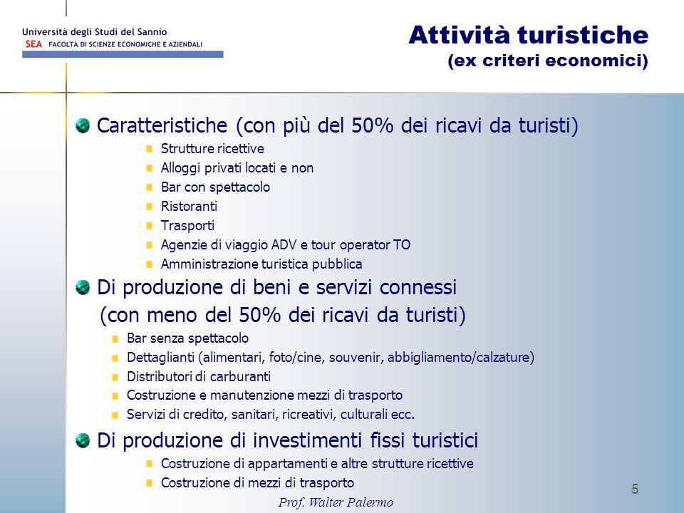 Attività turistiche (ex criteri economici)