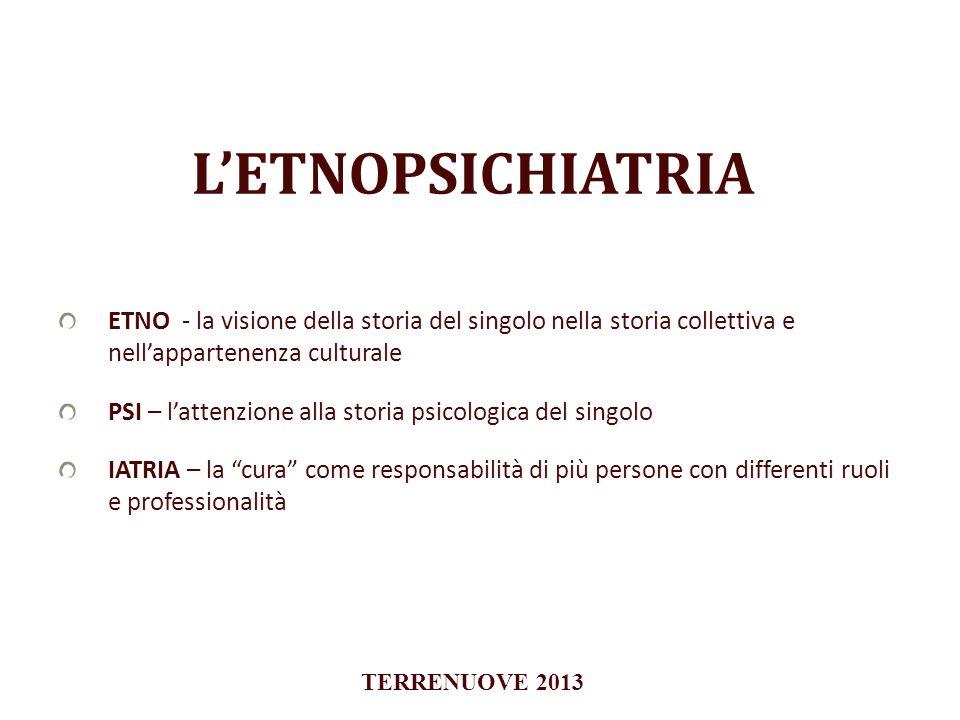 L'ETNOPSICHIATRIA ETNO - la visione della storia del singolo nella storia collettiva e nell'appartenenza culturale.