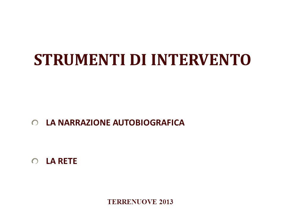 STRUMENTI DI INTERVENTO