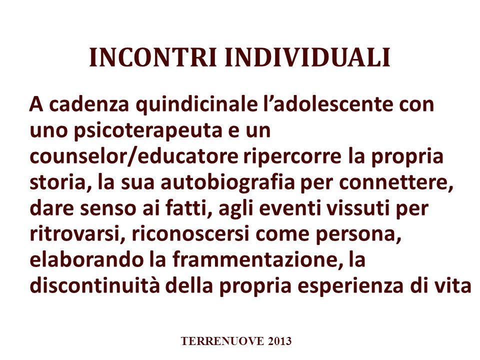 INCONTRI INDIVIDUALI