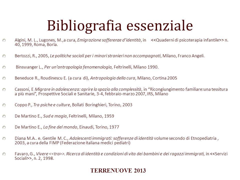 Bibliografia essenziale