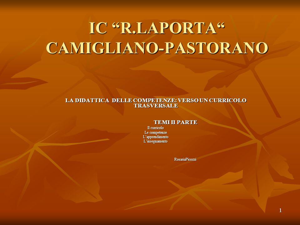 IC R.LAPORTA CAMIGLIANO-PASTORANO