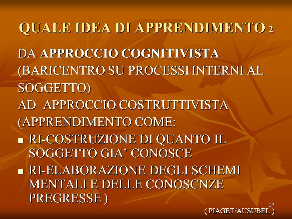 QUALE IDEA DI APPRENDIMENTO 2