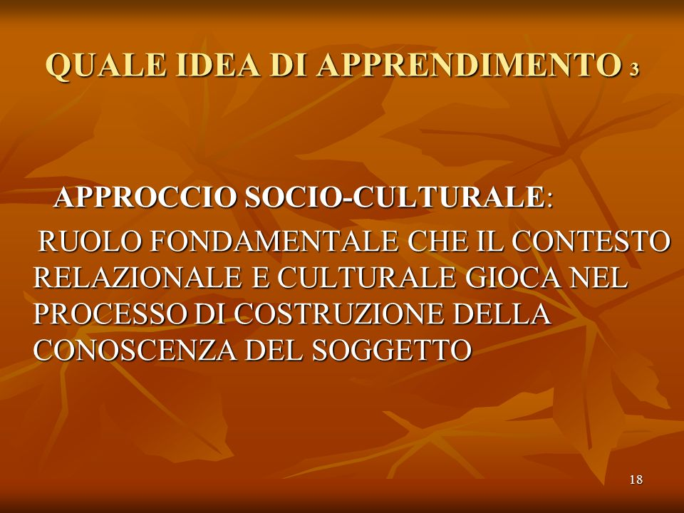 QUALE IDEA DI APPRENDIMENTO 3