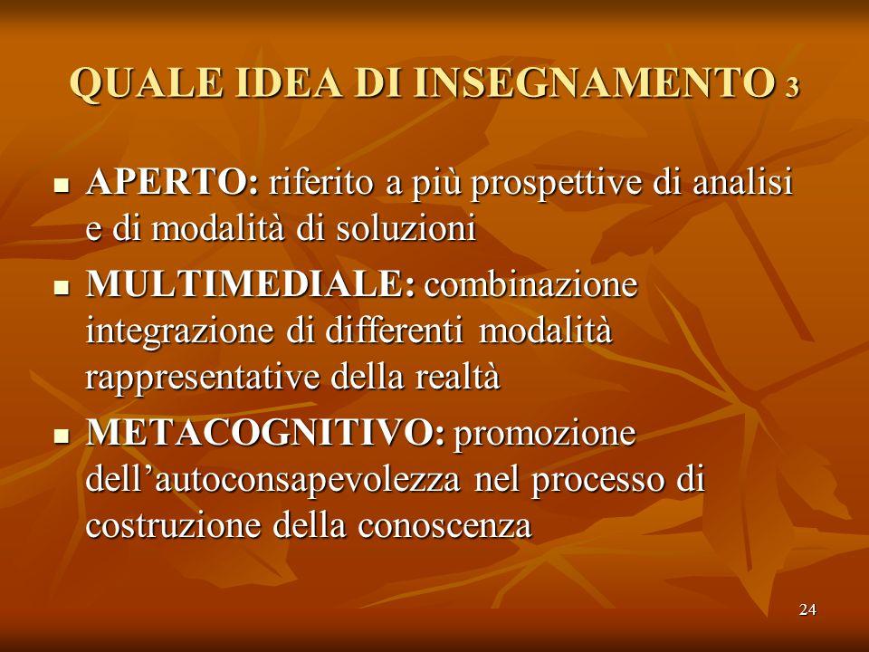 QUALE IDEA DI INSEGNAMENTO 3