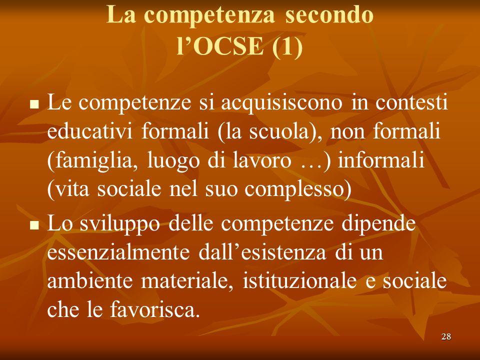 La competenza secondo l'OCSE (1)