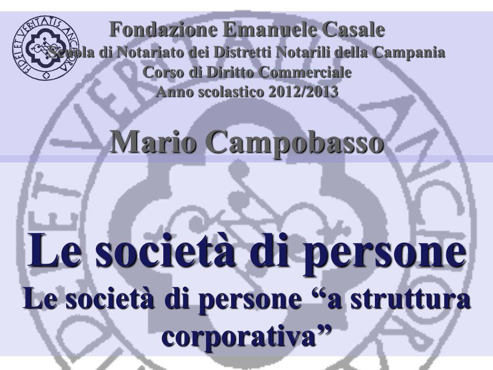 Le società di persone Mario Campobasso