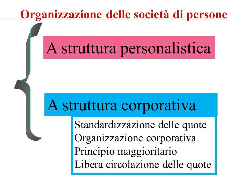 A struttura personalistica
