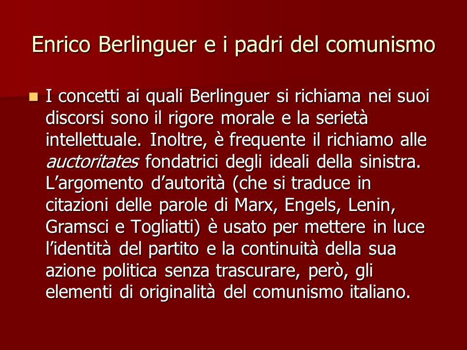 Enrico Berlinguer e i padri del comunismo