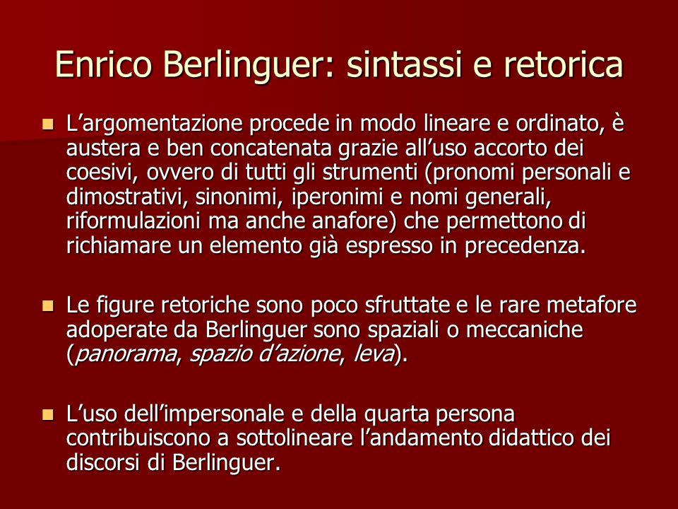 Enrico Berlinguer: sintassi e retorica
