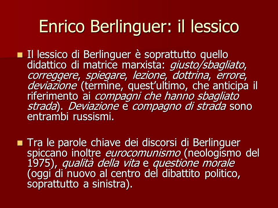 Enrico Berlinguer: il lessico