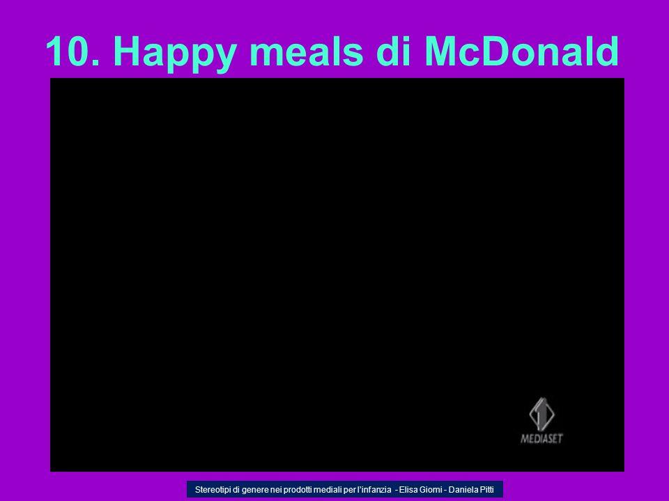 10. Happy meals di McDonald
