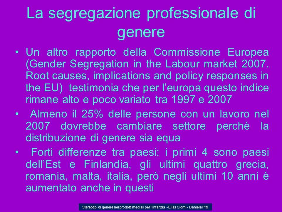 La segregazione professionale di genere