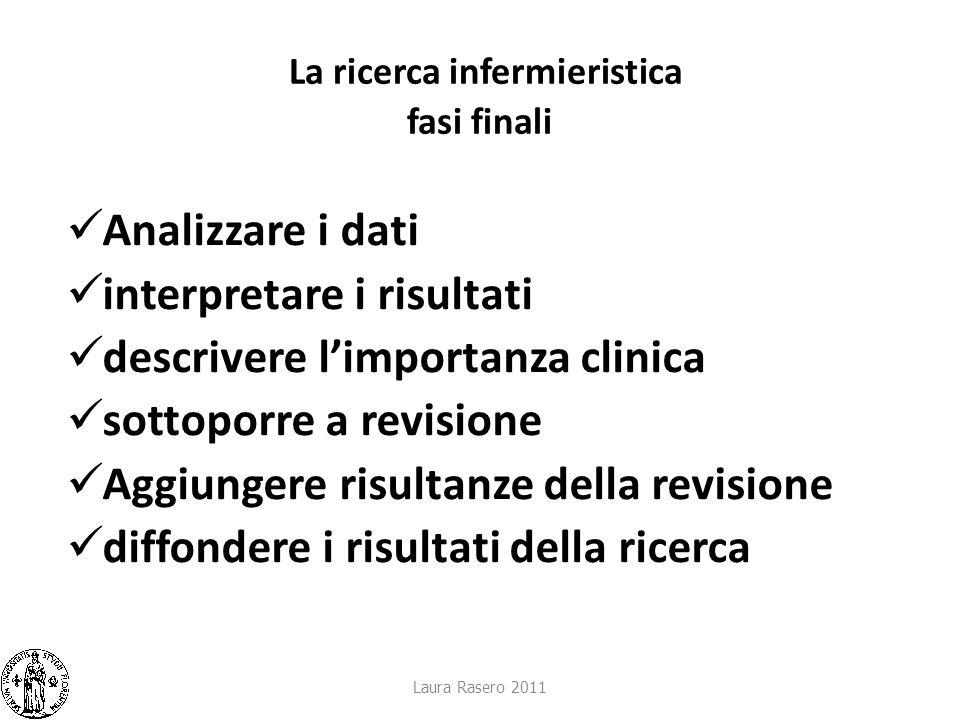 La ricerca infermieristica fasi finali