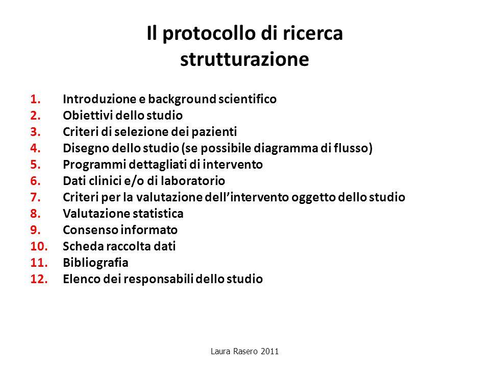 Il protocollo di ricerca strutturazione