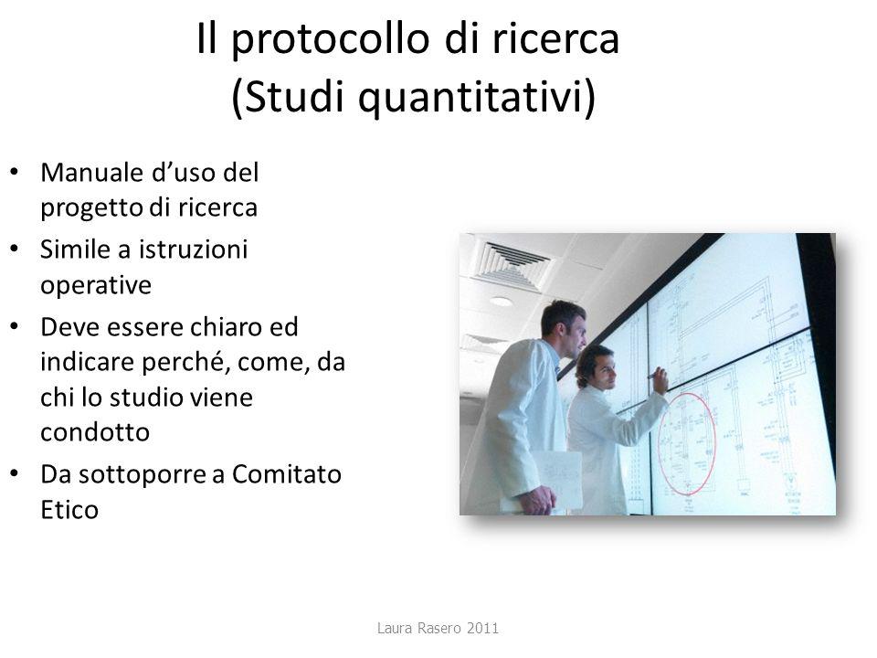 Il protocollo di ricerca (Studi quantitativi)