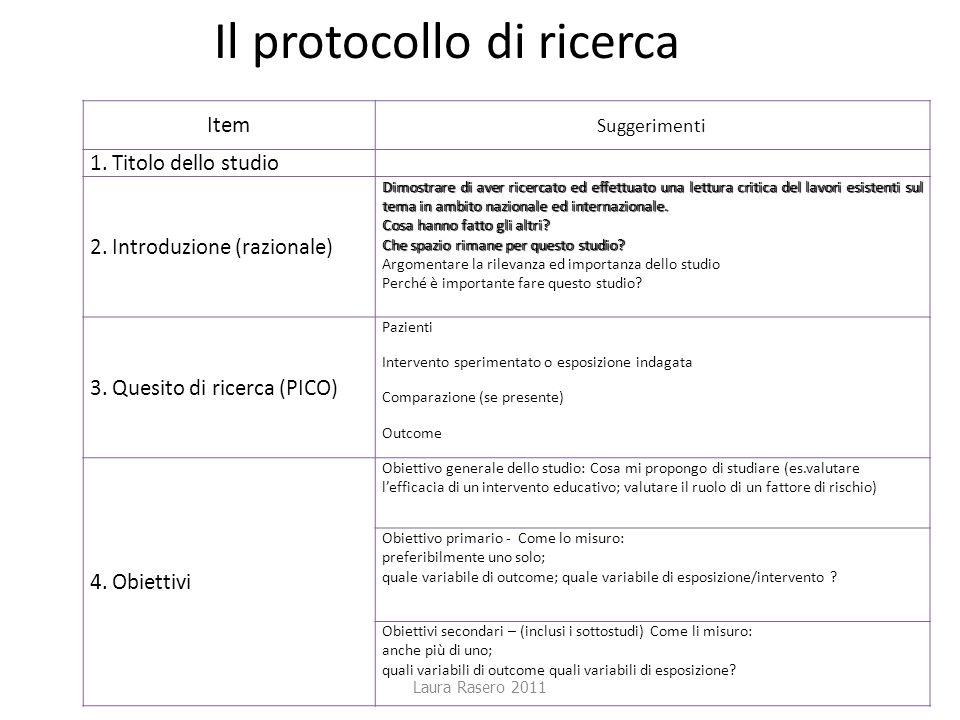 Il protocollo di ricerca